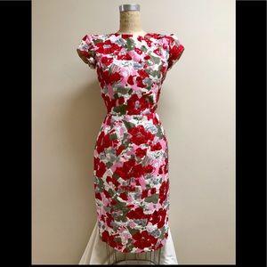 """""""Sale""""Oscar de la Renta Embroidered Cocktail Dress"""